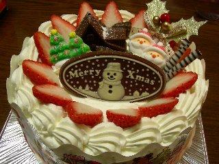 つるやのクリスマスケーキ(定番女Ver.)