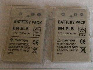 EN-EL5 互換バッテリー2個