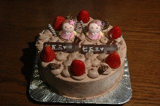 つるや製七五三生チョコケーキ