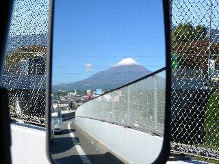 ミラー越し富士山