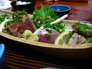 たたき定食(カツオ)