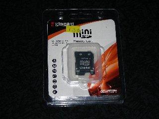 Kingston miniSD 512MB